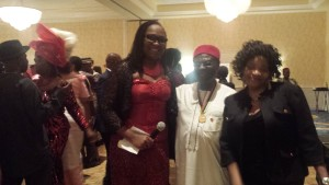 Second from right is the chairman of Anaedo, Boston chapter and his wife on his immediate left in a pose with the the organization's Legal Adviser, Dr. Rose Egbuiwe (third from right ) at the Gala Night.