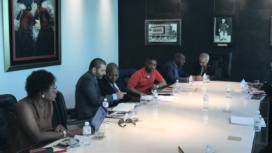 L-R: First Lady of Edo State, Mrs. Betsy Obaseki; Executive of Tolaram Group, Deepak Chainani; Permanent Secretary, Ministry of Agriculture, Edo State, Kadiri Bashiru; Commissioner for Wealth Creation, Cooperatives and Employment, Emmanuel Usoh; Governor Godwin Obaseki of Edo State, and the Consular General of Singapore to Nigeria, Haresh Aswani, during the discussion of Tolaram's proposed $50million investment in cassava and oil palm expected to create 50,000 jobs.